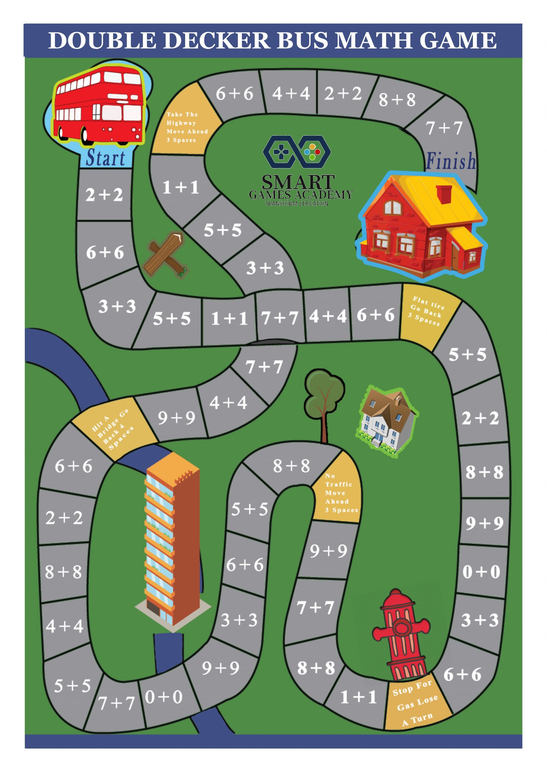 double decker math game